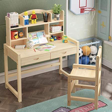 缘诺亿 实木可升降儿童书桌椅套装 489元
