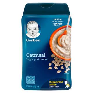 嘉宝(Gerber) 婴幼儿米粉 进口版 227g 一段 高铁锌燕麦味 *16件 301.6元(合18.85元/件)