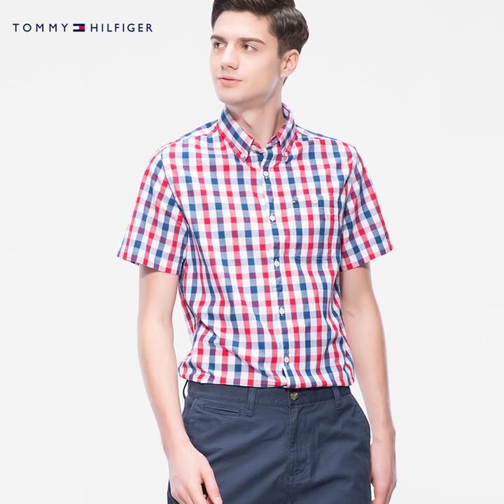 TOMMY HILFIGER C8878A7746NS 男士短袖衬衫 231元包邮
