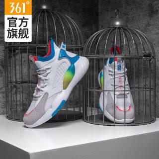 361度栗喉蜂男鞋2019春季新款篮球鞋文化运动鞋子 N 361度白/女伶蓝 42 269元