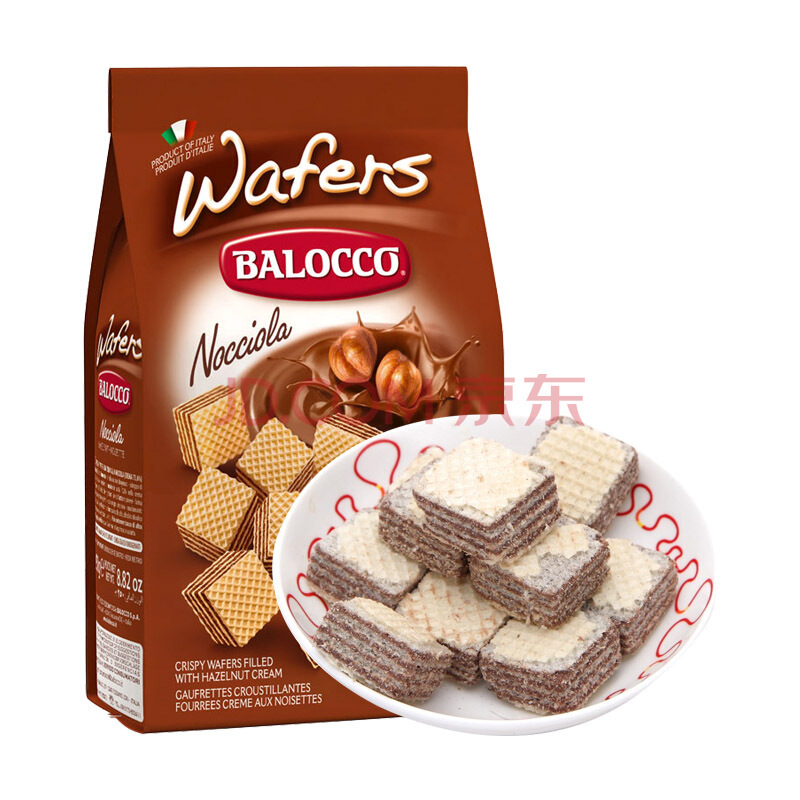 ¥12.9 Balocco 百乐可 威化饼 榛仁味 250g