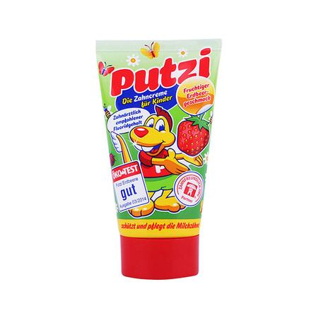 putzi 儿童防蛀牙膏 加钙+草莓味 2支装 *2件 42.07元包邮包税(合10.5元/件) ¥42