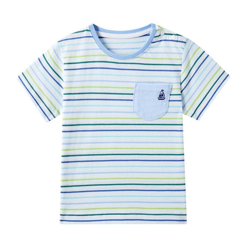 全棉时代 幼儿男款针织色织短袖T恤 1件装 69元