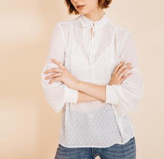 ANDREW MARC 女士雪纺波点衬衫 *2件 293.4元包邮(合146.7元/件)
