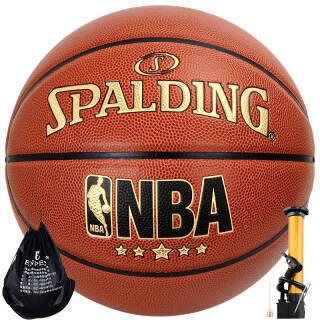 SPALDING 斯伯丁篮球NBA室内外比赛蓝球PU材质7号儿童成人lanqiu 76-138Y 119元