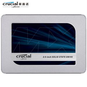 10日0点: crucial 英睿达 MX500 SATA3 固态硬盘 500GB 389元包邮