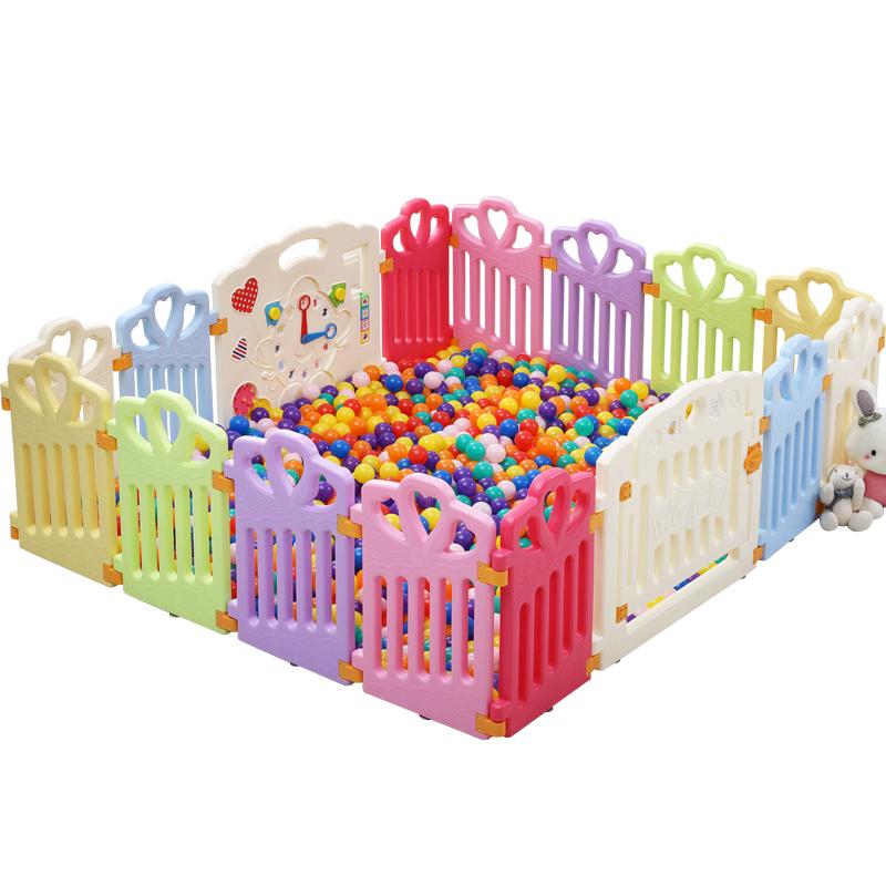 十二色童话婴幼儿童游戏围栏爬行垫塑料栅栏宝宝安全防护栏室内 118元