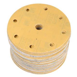 3M砂纸 Gold金锐利干磨砂纸6寸9孔 汽车漆面打磨抛光钣喷研磨背绒砂纸 216U P800 100片装 229元