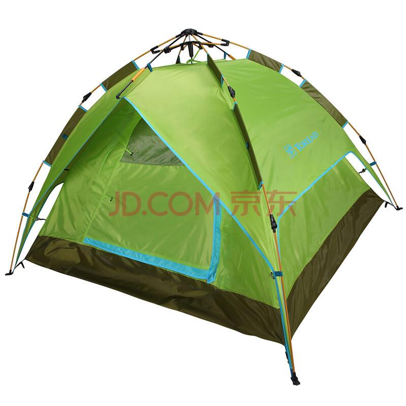 探路者(TOREAD)帐篷户外春夏通用露营登山三人液压速开帐篷 ZEDF80451 柠檬绿/芥绿 *5件 564元(合112.8元/件)