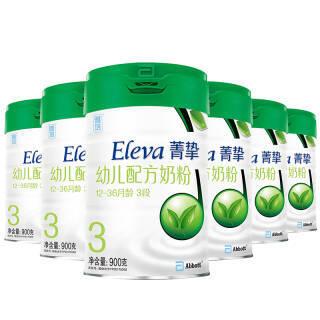 雅培(Abbott)Eleva菁挚有机幼儿配方奶粉 3段900克*6(整箱装)(原菁智有机系列,新老包装随机发货) 1635元