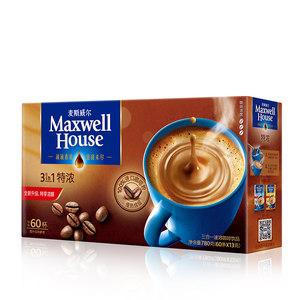 我们买过 麦斯威尔 三合一特浓咖啡 13g*60条*4盒 109.6元 平常59.8元/盒