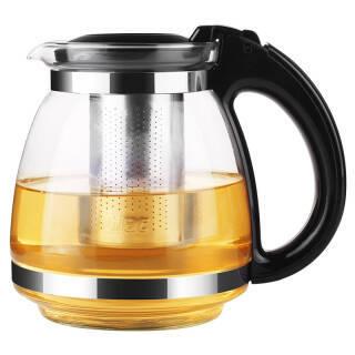 紫丁香 玻璃茶壶 耐热玻璃大容量花草茶壶 304不锈钢过滤内胆泡茶器易清洁茶具1.5L *7件 169.3元(合24.19元/件)