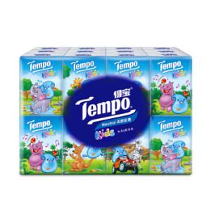 ¥13.9 得宝(Tempo) 儿童版迷你纸手帕 4层加厚小包纸巾 7张*24包 天然无香