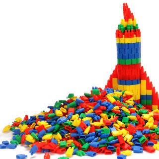 儿童游戏棒趣味亲子互动益智玩具挑帮桌面游戏彩色塑料挑棍儿童玩具礼物 80颗弹头积木 9.90