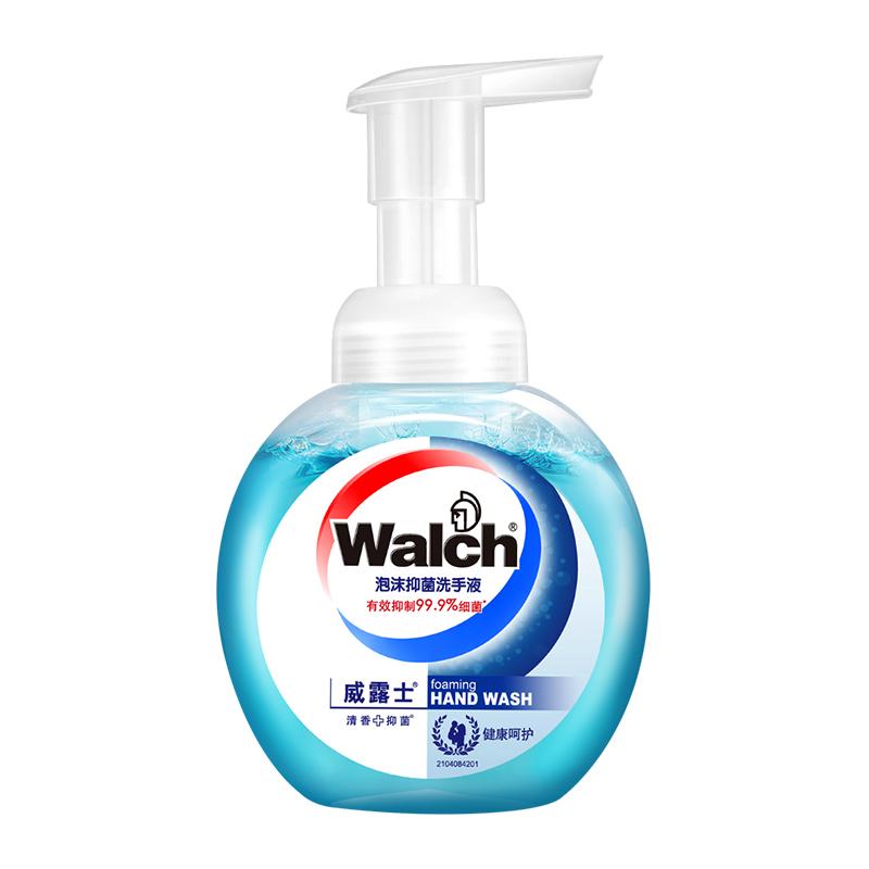 Walch/威露士清香抑菌健康呵护泡沫洗手液225ml 14.6元