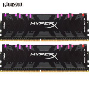 金士顿 掠食者系列 DDR4 3600 台式机内存 8G*2套 铝制散热马甲 带RGB灯条 999元 平常1199元
