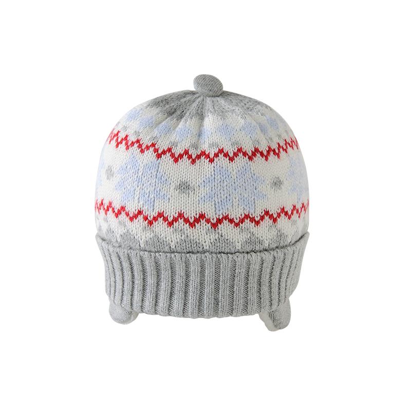 英氏婴儿针织帽儿童加绒帽防风御寒153334 45元