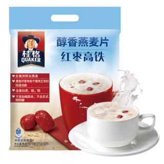 桂格 QUAKER 红枣高铁醇香燕麦片675g 营养早餐 方便快捷 即冲即饮(内含25包) *5件 94元(合18.8元/件)