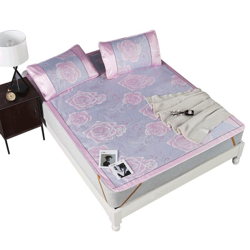 浪莎冰丝席三件套折叠夏凉席床单式宿舍空调席子3件套1.8米床 59元