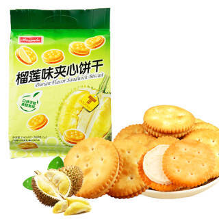 铁尺(Biando) 榴莲味夹心饼干 360g *5件 39.5元(合7.9元/件)