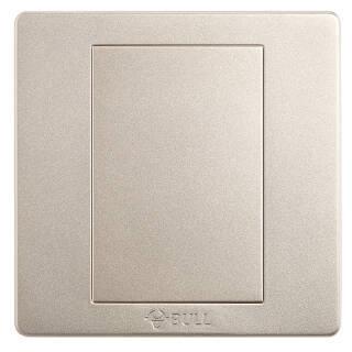公牛(BULL) 开关插座 G07系列 防溅盒面板白板 86型面板G07B101(U6) 香槟金 暗装 5.51元