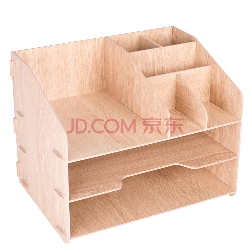 ¥23.94 得力(deli)木制DIY创意多层组合收纳盒 *5件 119.7