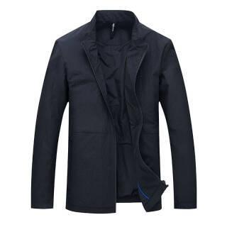 北极绒(Bejirong)商务休闲短款立领中年男夹克 MDJ80108 黑色 185/XXL 219元