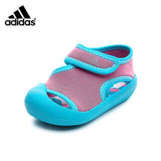 阿迪达斯adidas童鞋 18新款儿童凉鞋婴童学步鞋男女童凉鞋透气护趾防滑鞋 BY2240 粉红色 9K/参考脚长155mm *2件 +凑单品 276元(需用券,合138元/件)