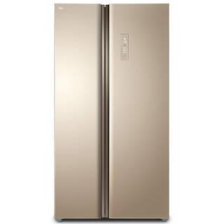TCL 650升 风冷无霜 对开门大冰箱 智慧风制冷 电脑温控 电冰箱(流光金)BCD-650WEZ50 3199元