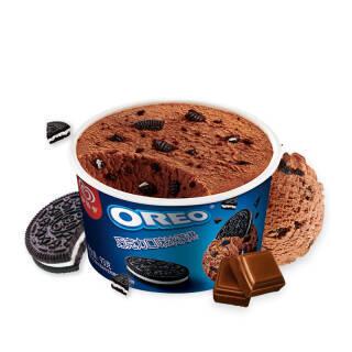 和路雪 奥利奥(OREO) 巧克力口味 冰淇淋家庭装 93g*3杯 雪糕 *8件 103.84元(合12.98元/件)
