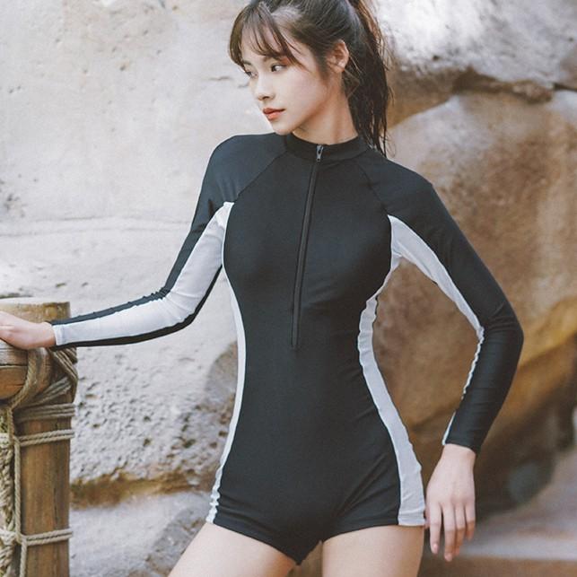 XIAOTAO 小桃 XT19074 女运动保守连体泳衣 39元
