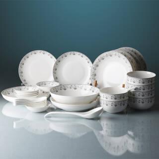 韵唐 陶瓷餐具套装 乔迁送礼家用碗碟盘勺礼盒装 北欧风情28头 微波炉适用 *2件 299元(合149.5元/件)