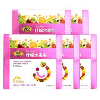 贝兜什锦水果条 果丹皮果泥果汁儿童零食多口味 228g*5盒 74.5元