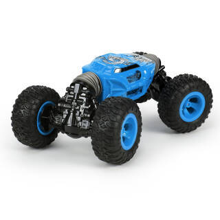 DZDIV 遥控车 双面扭变四驱攀爬车 儿童玩具大型遥控汽车模型耐摔配电池可充电UD2169A蓝+凑单品 96.5元
