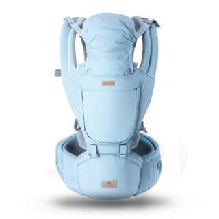 bebenuvo 象伴宝宝婴儿背带透气双肩腰凳四季通用前抱式托抱娃神器 蓝色 99元