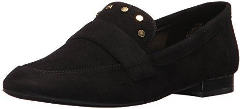 爆料有奖!限尺码36码 Nine West Ximon 女士麂皮芭蕾平底鞋 黑色 3.5 UK prime到手约180元