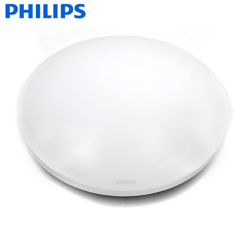 飞利浦led吸顶灯家用圆形厨房洗手间厕所走廊过道阳台普通吸顶灯 19.9元
