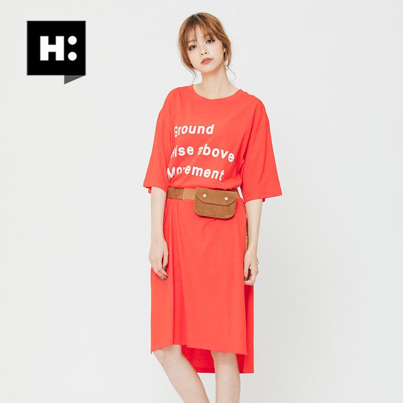 H:CONNECT 30174-121–101-05 女士全棉下开叉连衣裙 68元