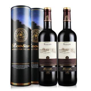 法国原瓶进口红酒 罗莎庄园(ROOSAR)罗莎爱语(优雅版)干红葡萄酒2支定制圆筒礼盒送酒具套装750ml*2 *4件 202元(合50.5元/件)
