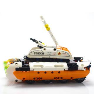 DOUBLE E 双鹰咔搭积木车 拼装变形回力立体拼插玩具积木 *5件 120元(合24元/件)