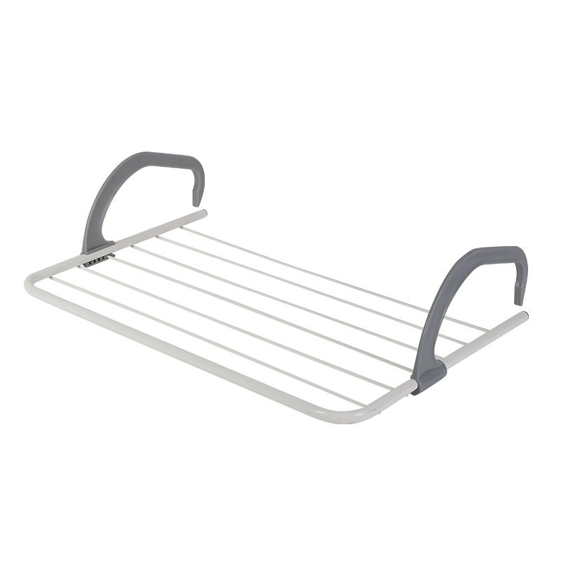 爱丽思IRIS 晾晒架多功能室外窗台可折叠尿布内衣毛巾架 免安装 21.8元