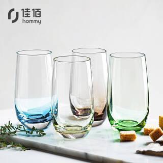 佳佰 幻彩玻璃杯4个装 玻璃杯水杯 杯子茶杯 慕斯杯 手工办公室家用 *3件 158.9元(合52.97元/件)