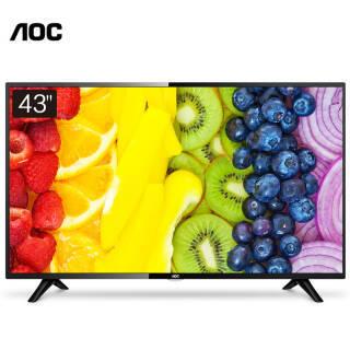 AOC 43英寸液晶平板电视 全高清无线网络WIFI 智能安卓可壁挂显示器LE43S5778 丰富影视资源 1449元