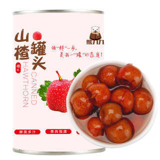 熊九九 糖水山楂水果罐头 方便速食 休闲零食 425g 2.66元