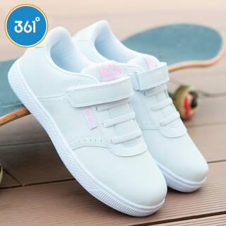 361° 童鞋女童小白鞋运动鞋 儿童滑板鞋 K89430051 本白 35 *3件 186.9元(合62.3元/件)