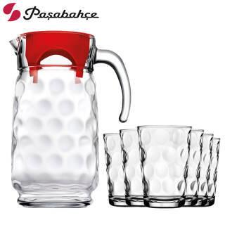 Pasabahce 帕莎帕琦 玻璃一壶六杯 7件套 59元