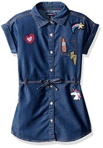 Limited Too 女孩休闲连衣裙 M 码蓝色牛仔布-2679 5/6码 prime含税到手约73.1元