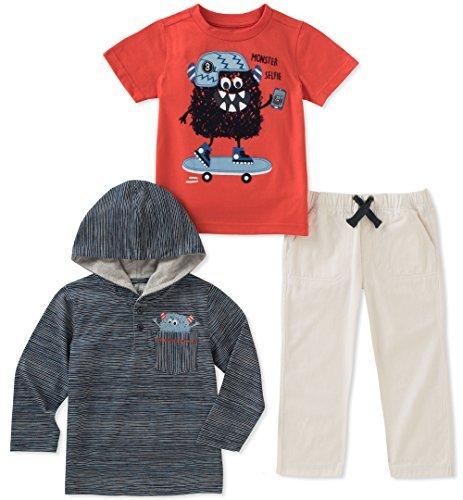 Kids HEADQUARTERS 婴儿男孩3件裤子套装 海蓝色 18M码 prime含税到手约78.73元