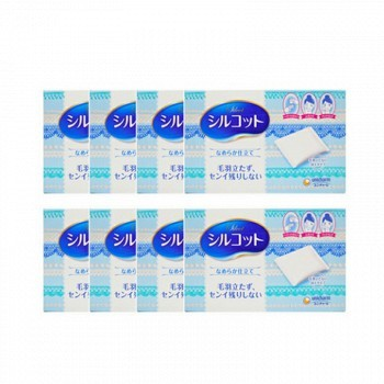 苏宁易购 预售: unicharm 尤妮佳 Silcot 压边厚款化妆棉 82片 *8件 78元包邮(定金8元,合9.75元/件)
