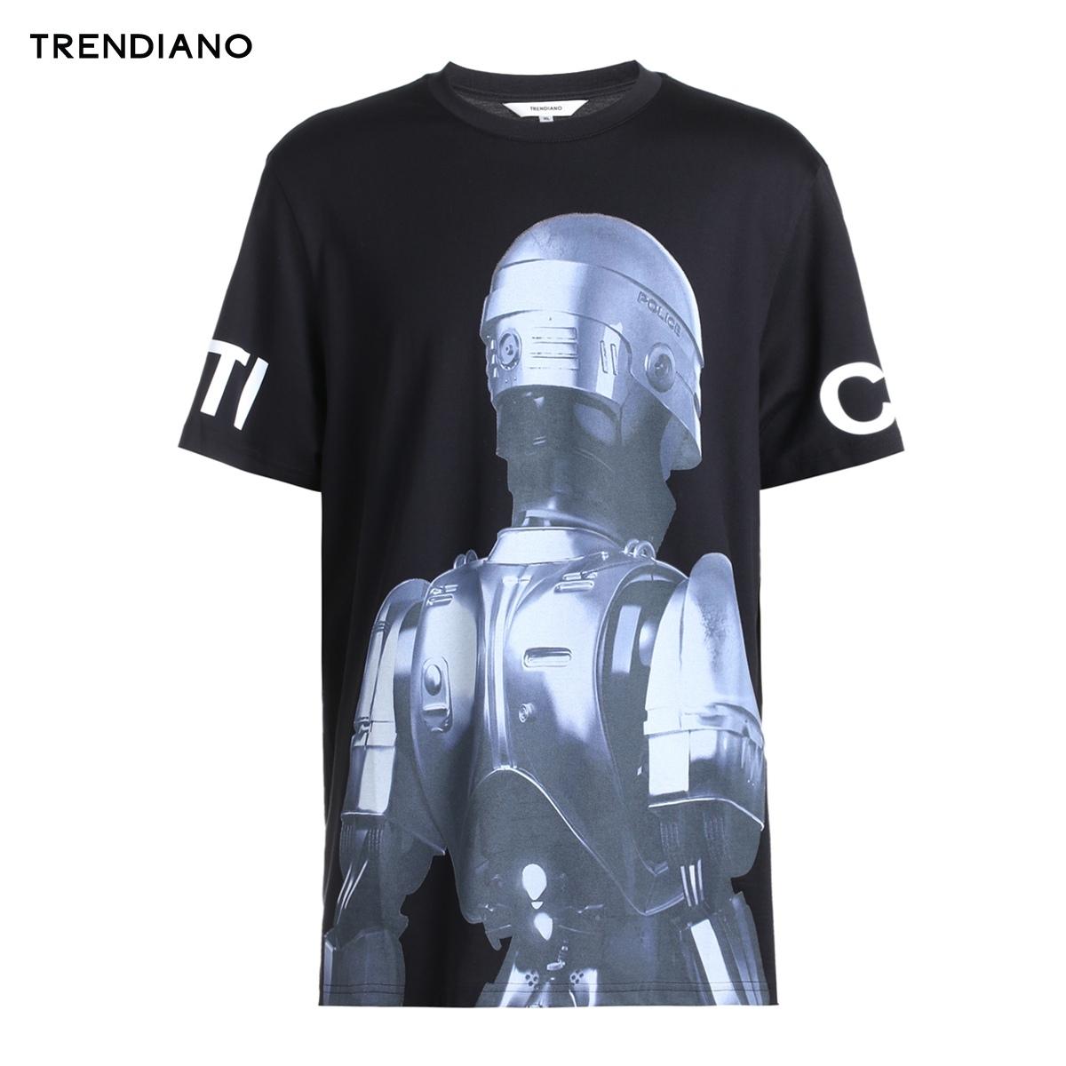 TRENDIANO 3JC2022340 男装 字母图案纯棉圆领短袖T恤 *3件 165.9元(合55.3元/件)